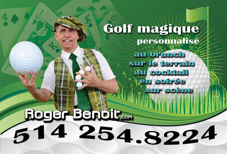 Magicien pour tournois de golf